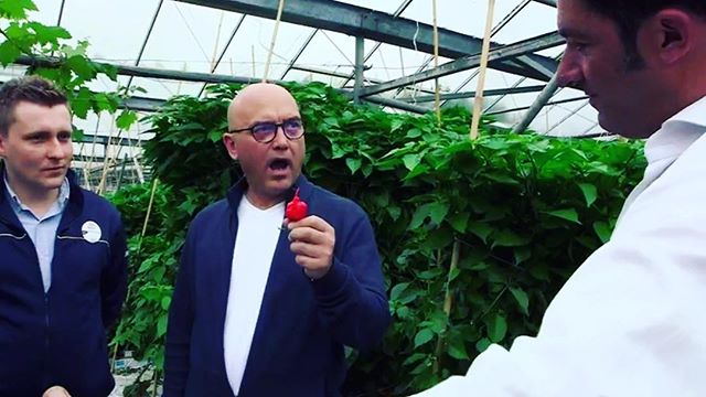 Did you catch Gregg Wallace wrapping his taste buds around our #carolinareaper on the @bbcone #supermarketshoppingsecrets? . #chillies