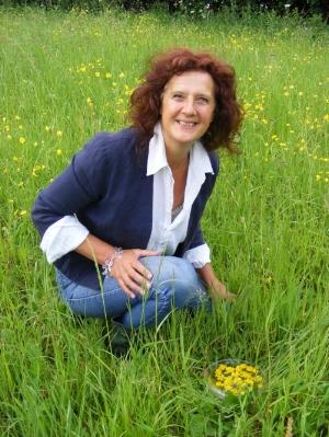 Saskia Marjoram making buttercup flower essence