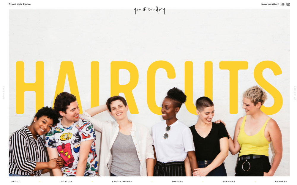 A barbershop for women & and the LGBTQ+ community.