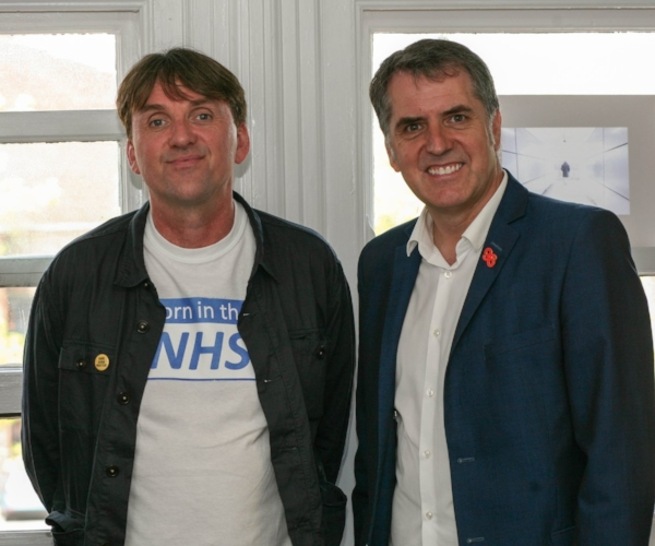 - Left: Mel Bowen (Head of Project) and Steve Rotherham (Liverpool's Metro Mayor)