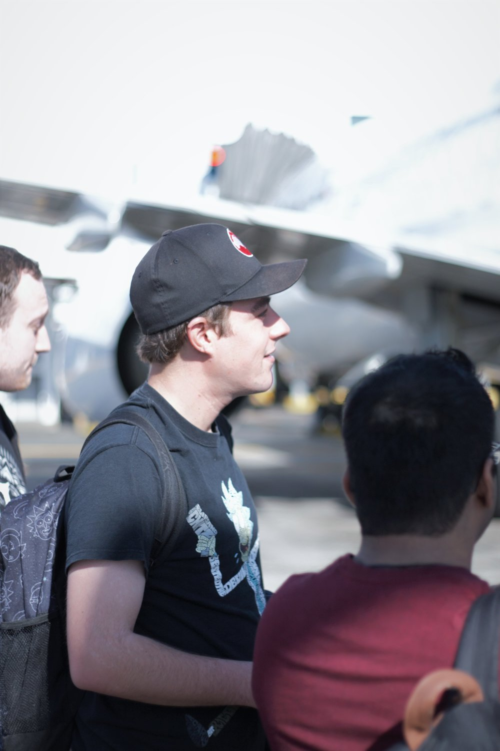 Like Ross boarding the plane like a pro.