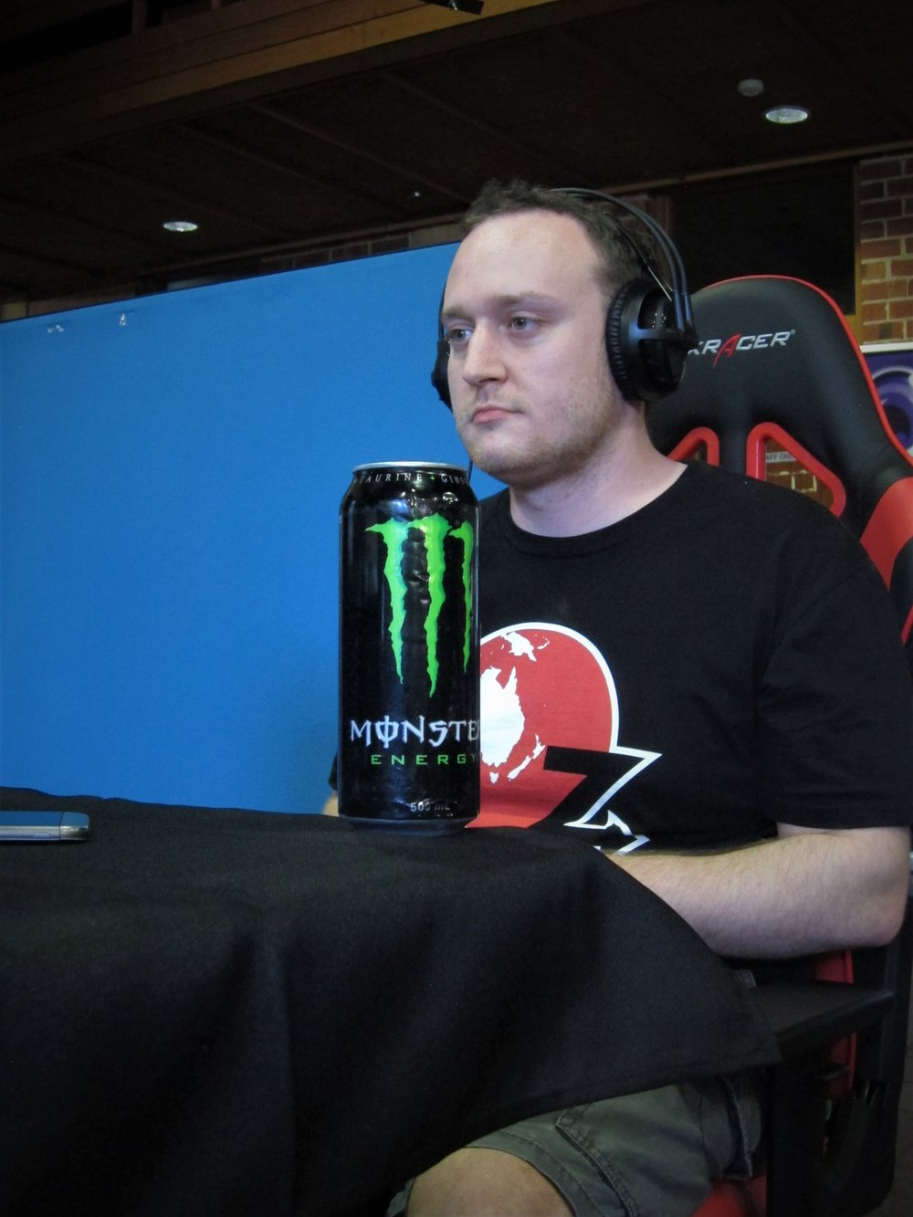Bug hits the stream with an energy drink.
