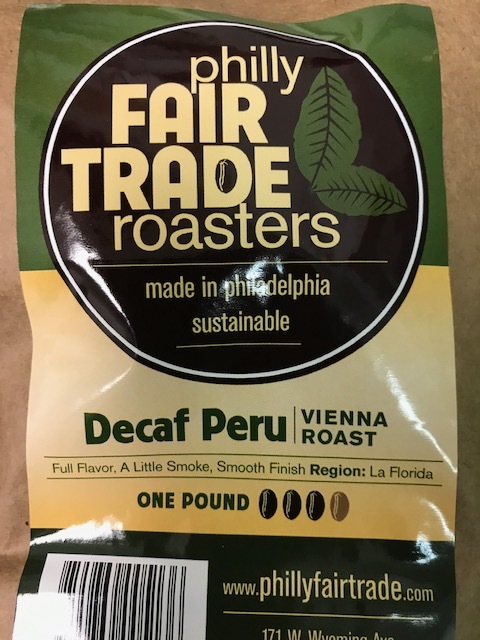 Philly Fair Trade Decaf Peru Coffee