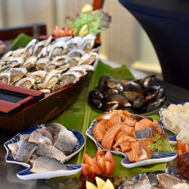 The seafood station looked great!