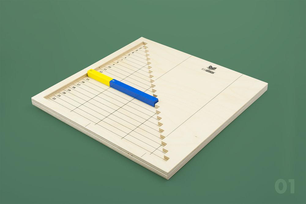 Treppen-Brett - Dieses EISfuchs Arbeitsmittel dient zum handelnden Erfassen der Addition und der Subtraktion im Zahlenraum bis 23. Das Schieben der Stäbe fördert zudem sowohl die Feinmotorik, als auch die visuelle Wahrnehmung.CHF 65.– mit Anleitung