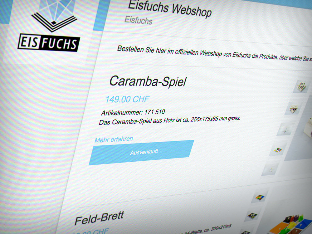 Bestelle online - Hier gelangst du zum offiziellen Payrexx-Webshop von Eisfuchs.