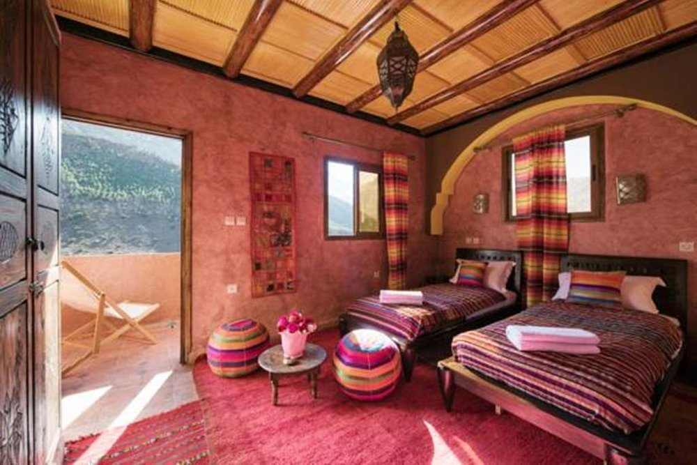 sleep - in the beautiful village of Imlil, in the stunning Toubkal national park (home to the highest peak in North Africa at 4167m)!