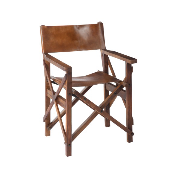 Direct Chair, Pliable, Wood / Leather Cognac