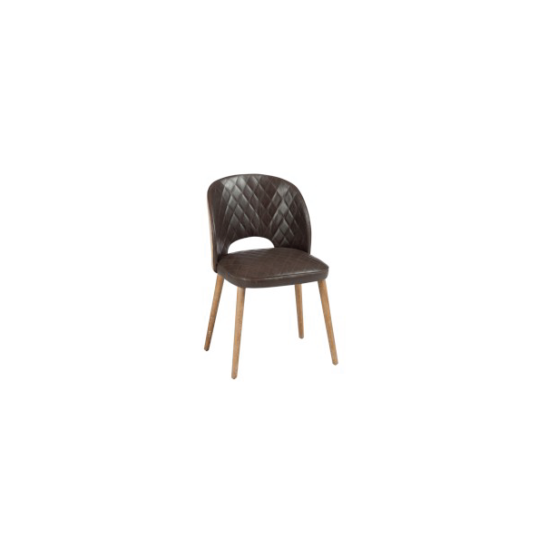Chair, Pu Brown / Jute / Oak Natural