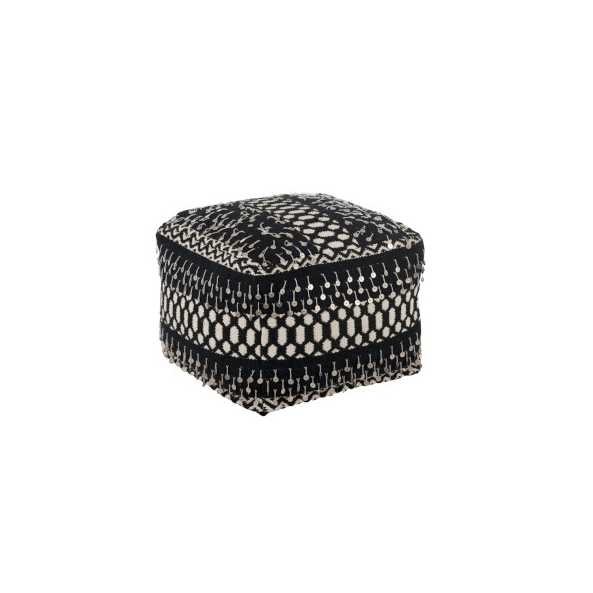Hassock Pearls, Cotton, Black / White