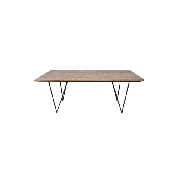 Rectangular Dining Table, Wood, Natural