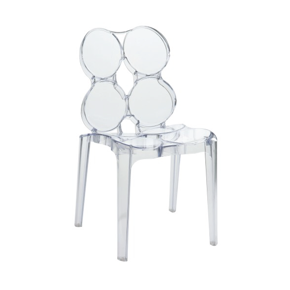 Circles Chair, Plastic, Clear, 56x48x85CM, ZH45