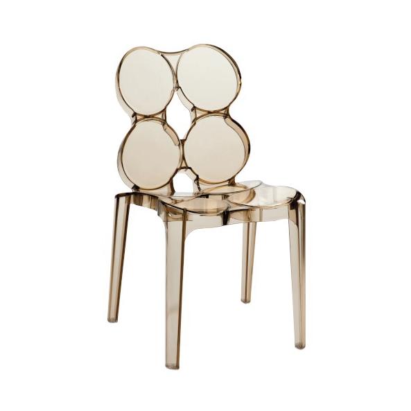 Circles Chair, Plastic, Amber 56x48x85CM, ZH45
