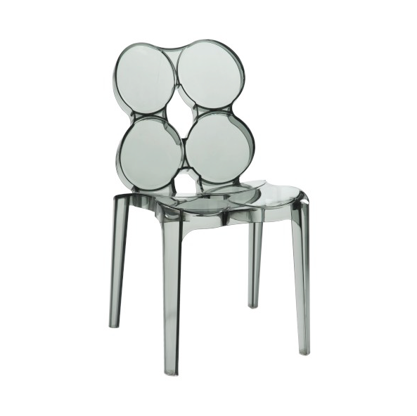 Circles Chair, Plastic, Smoke 56x48x85CM, ZH45