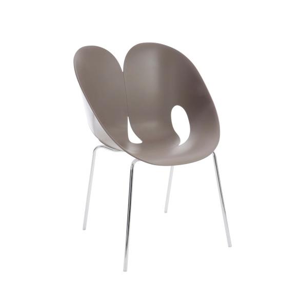 Chair Jens, Polypropylene/ Metal, Taupe