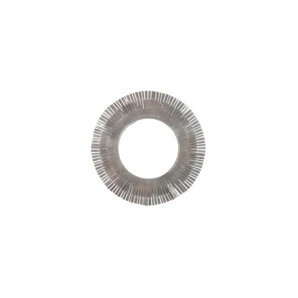 Mirror Round 3 Layer, Metal, Brown, 107x3x107CM