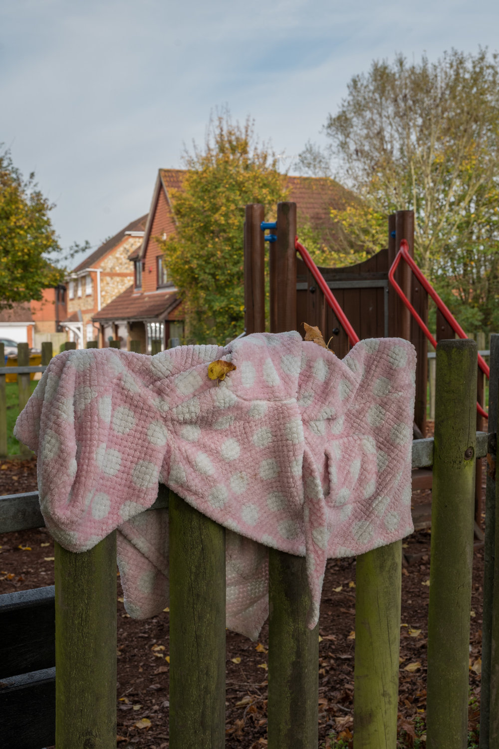 Dressing Gown on Play Park Railings