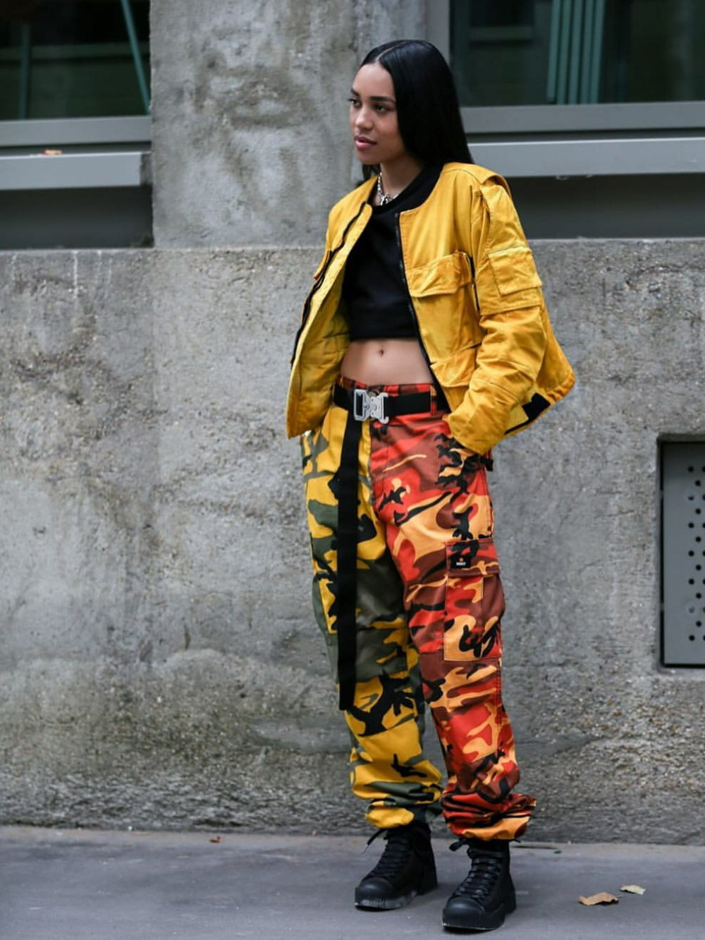 Colored camo pants -