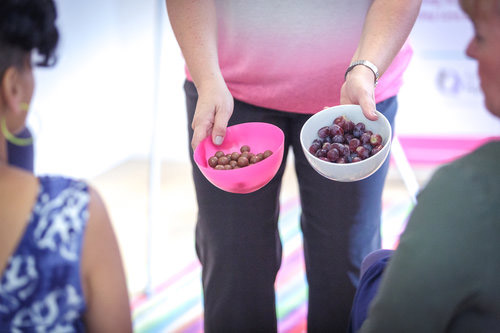 chocolates and berries in a bowl during a mindful eating workshop in Bristol helping women to ditch the diet with positive body image confidence