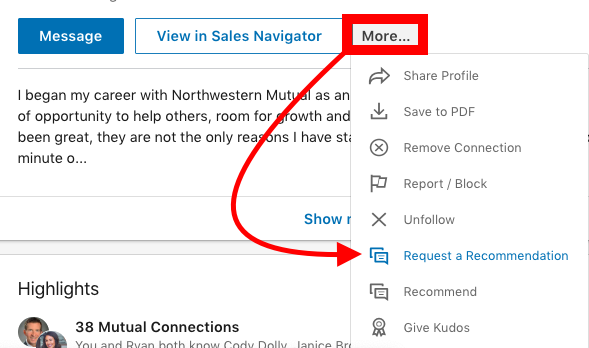 LinkedIn Recommendation