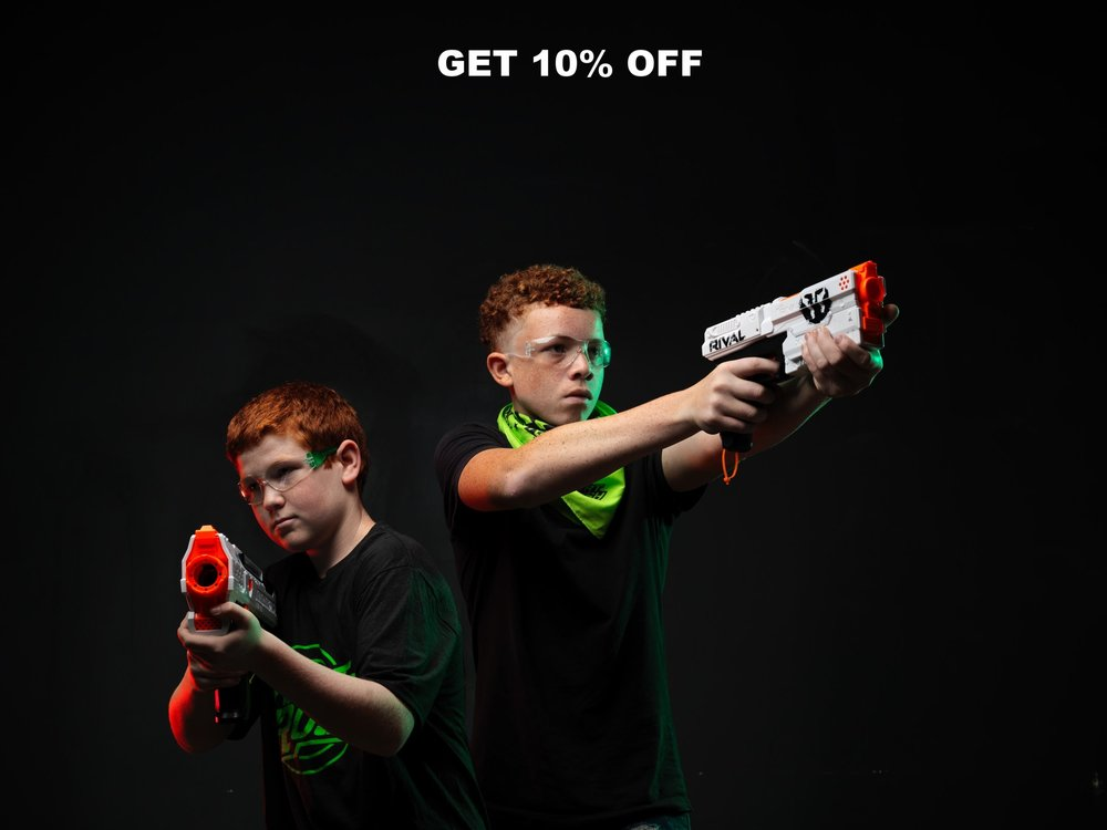 Public Arena - battle in the arena with up to 50 other NERF® Warriors