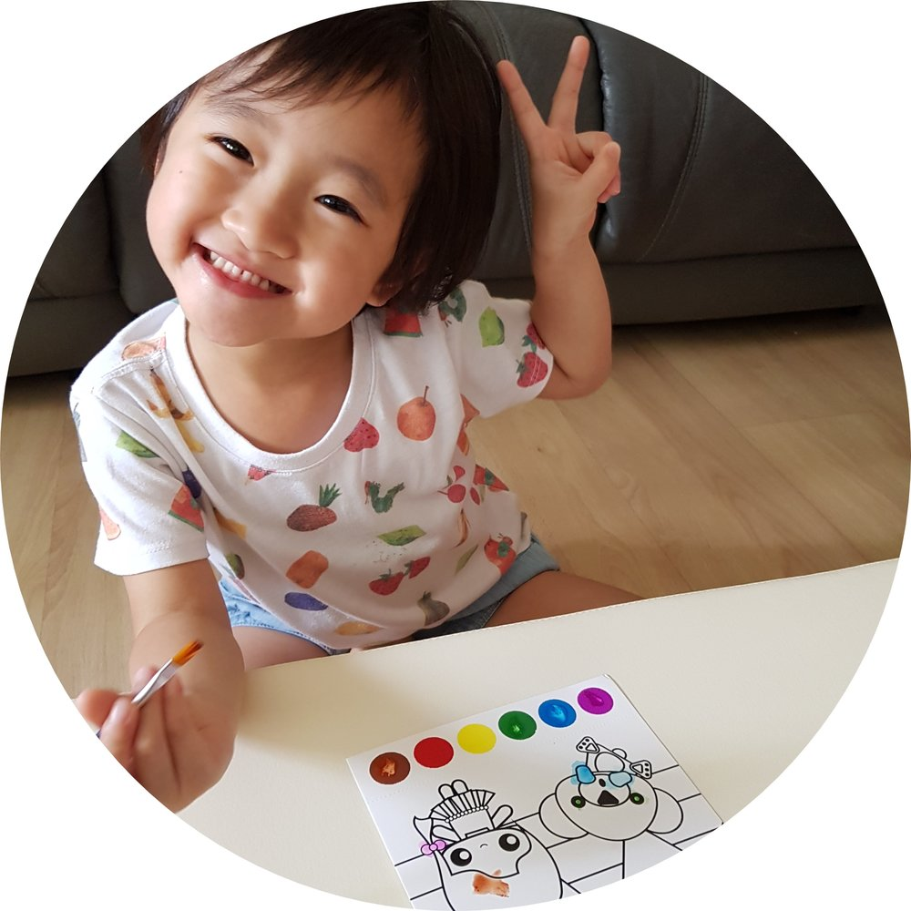 Heart-warming Postcard - Kids love colors! Embed our kids' creativity & love on these personalized hand paint postcards and share with their friends and love ones.