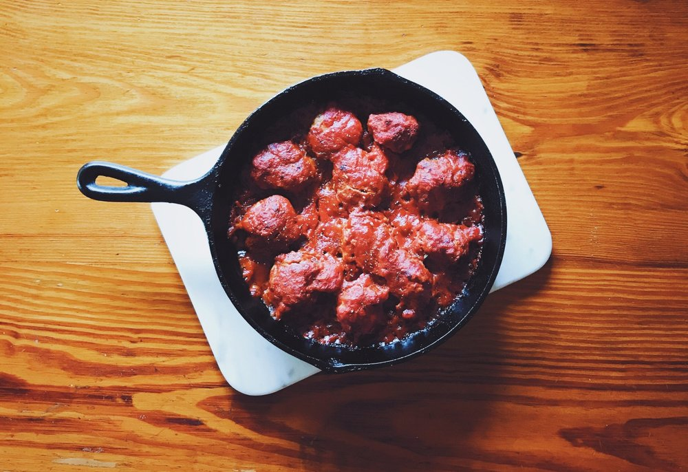 simple skillet meatballs