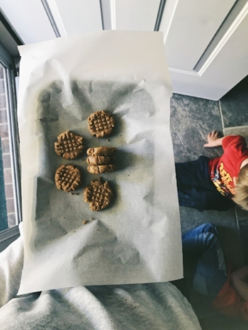 Pictured below the tray:the two that steal all the cookies.