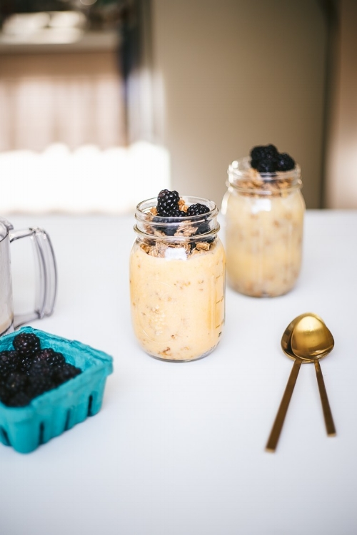 A Sunshine Breakfast Jar //  Photo By: Jessie Snyder of  Faring Well