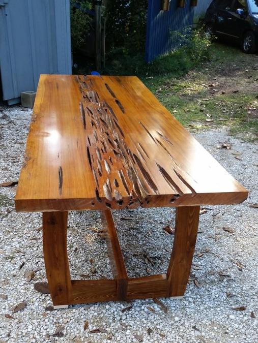Pecky Sinker Cypress Table
