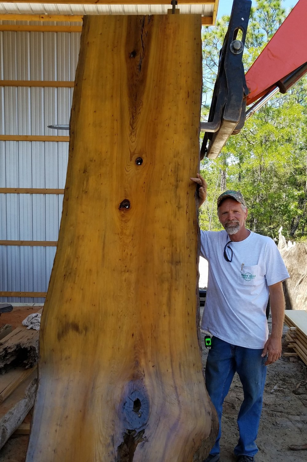 Rich Mitchell With Sinker Cypress Slab