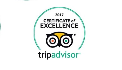 Certificate of excellence - Thanks to our wonderful customers we've been awarded a certificate of excellence from TripAdvisor. Just click here if you'd like to review us too.