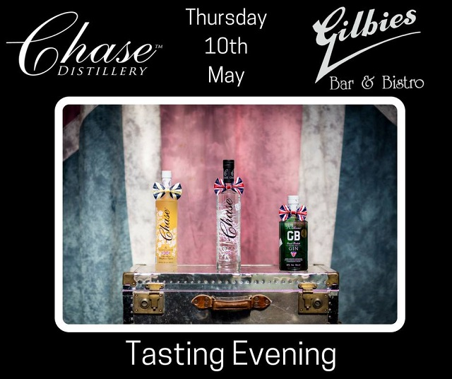 Gin, Vodka & Tapas all for only £15! - Join us to sample a variety of Chase signature spirits along with our delicious tapas.You will receive a signature serve GB Gin & tonic on arrival followed by a guided tasting of 4 more products from the Chase Distillery range alongside a selection of tapas dishes all for only £15. Booking essential, so click here to reserve, or call on 01432 277863