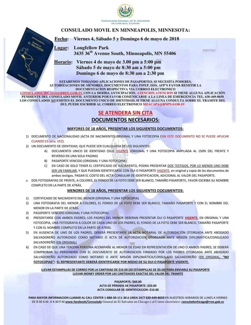ATN: El Consulado General de El Salvador en Chicago, Illinois ...