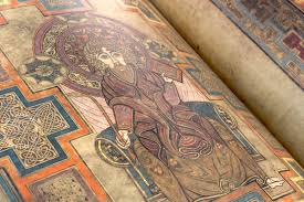 Book of Kells , circa 800 A.D. Library of Trinity College, Dublin