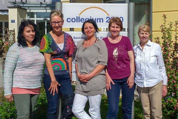 Das Team der Tagespflege im Collegium 2000, v.l.n.r.: Jasmine Balard-Lenz, Karin Nijman, Sonja Öhler, Renate Aigner, Ingrid Peter-Rimböck