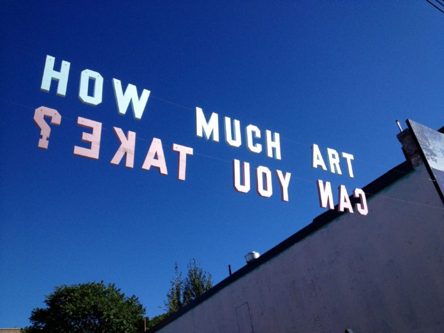 Jesse Harris,  How Much Art Can You Take? , 2014