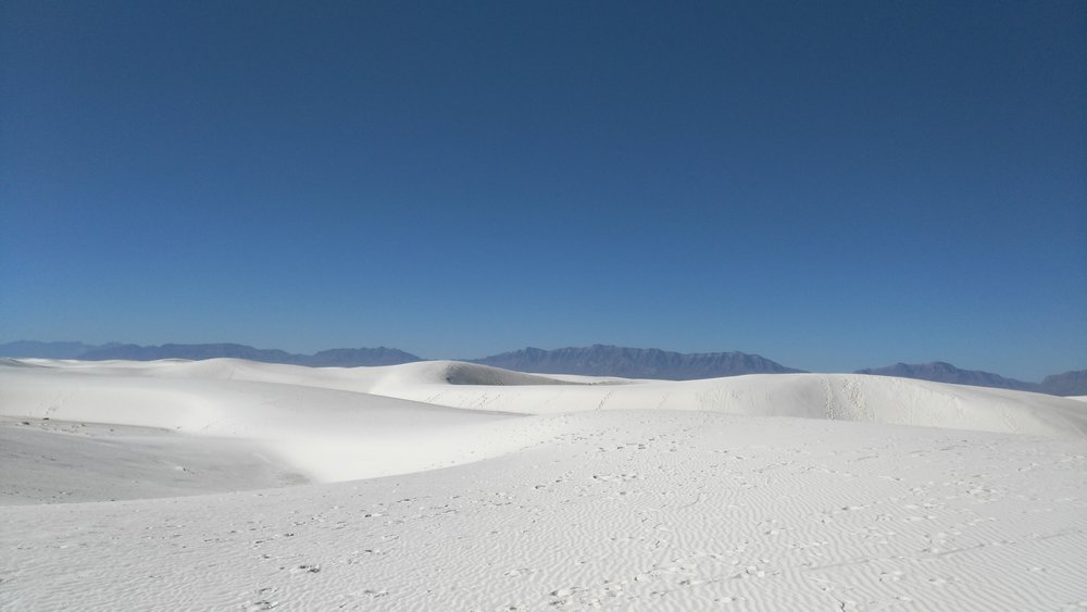 Dunes at White Sands with San Andres Mountains in the background