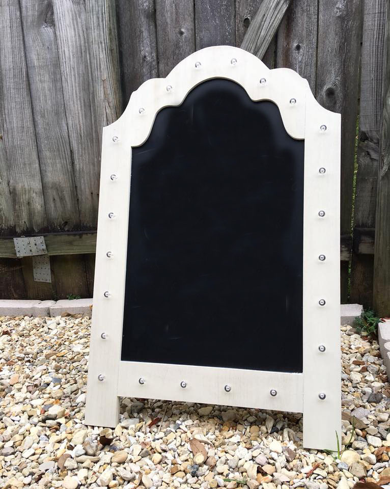 Large Chalkboard with Lights - 22