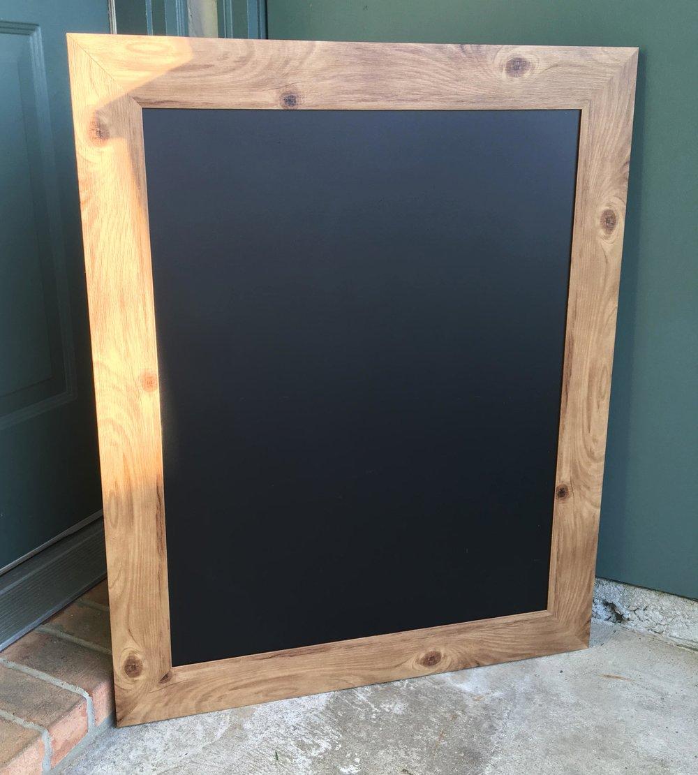 Large Wooden Chalkboard - 21