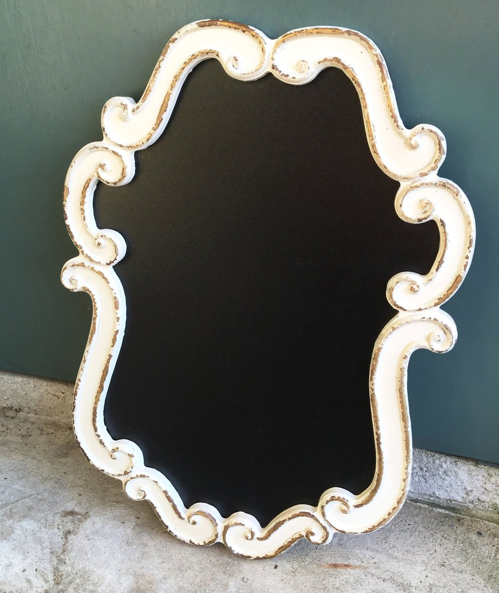 White Decorative Chalkboard - 10.5