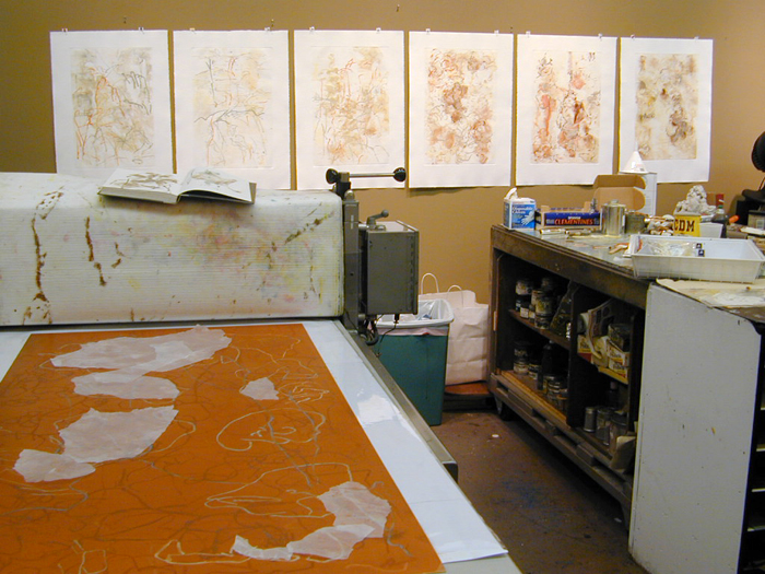 Monoprints, Texas Arts Collaborative, 2004, Houston, Texas