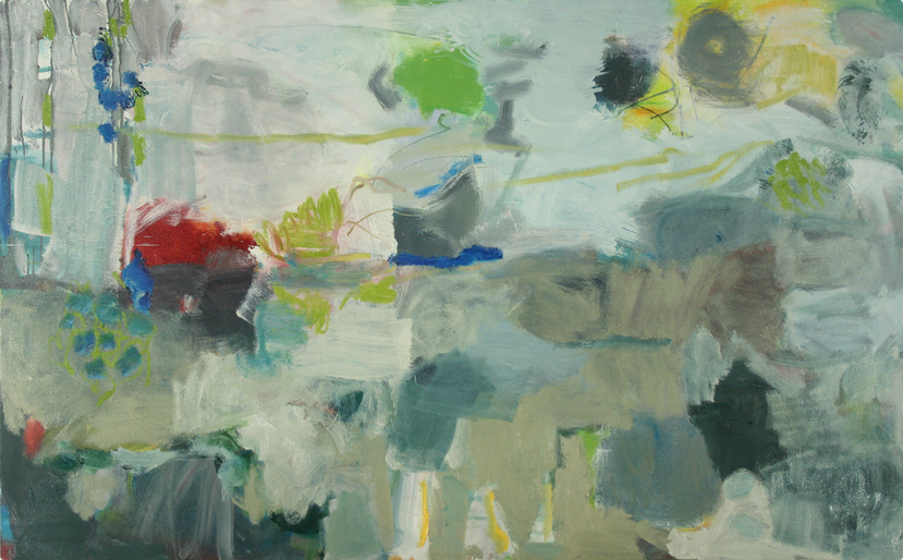 Now, 2011 Oil and acrylic on canvas 41 x 66 inches