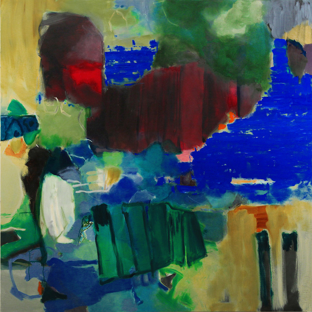 Hover, 2015 oil on canvas 66 x 66 inches