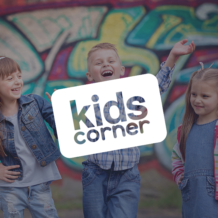 Kid's Corner At our services we offer KIDS CORNER for children 6 weeks - 4th grade. We create a safe environment for children to learn the truths of the Bible and have fun worshiping Jesus. If you have any questions about KIDS CORNER, please contact tish@cornerstoneonline.tv.