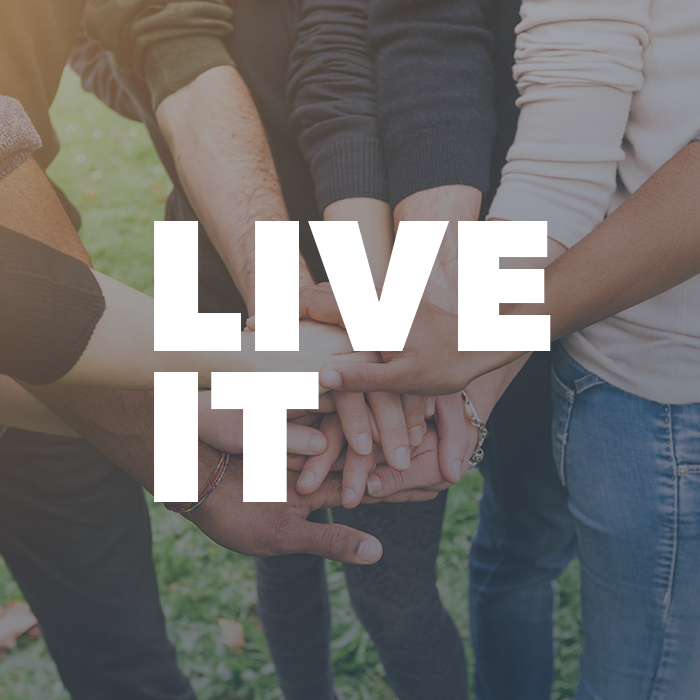 "LIVE IT   We believe we are called to share the love of Jesus locally, nationally, and globally. Our local effort, ""LIVE IT"" is held every 1st Saturday of the month from 9-11 am and focuses on improving our community!"