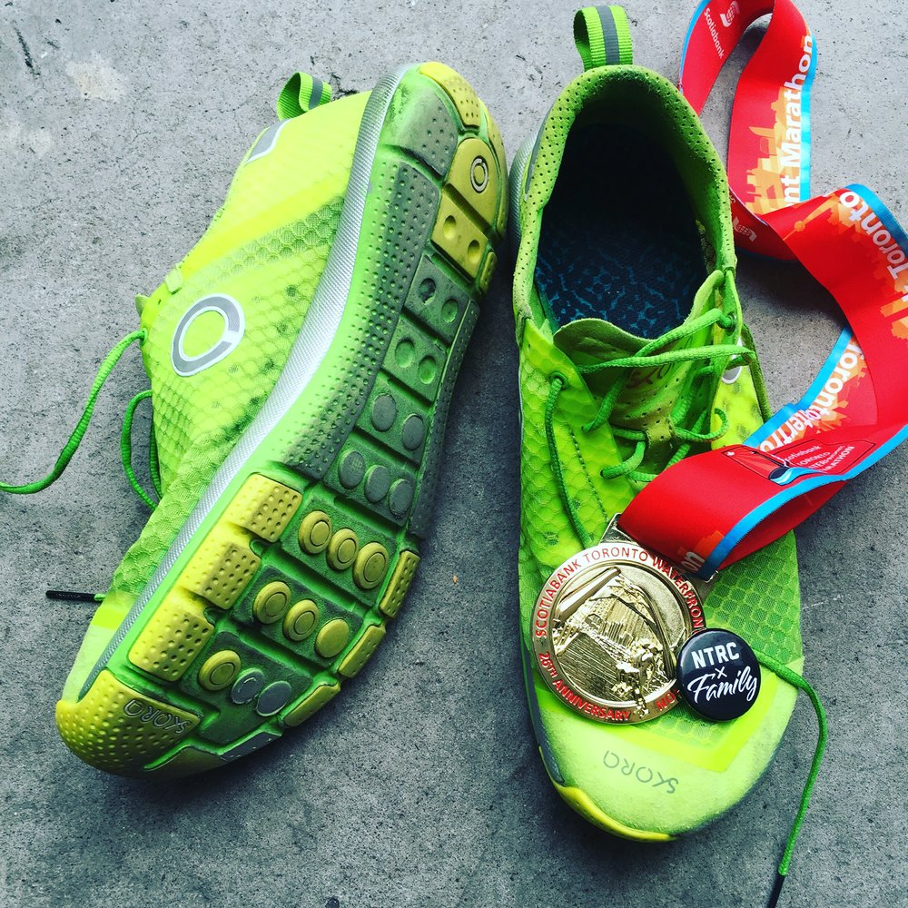 Scotiabank Toronto Waterfront Marathon 2015. I ran my first marathon in shoes I designed. SKORA TEMPO.