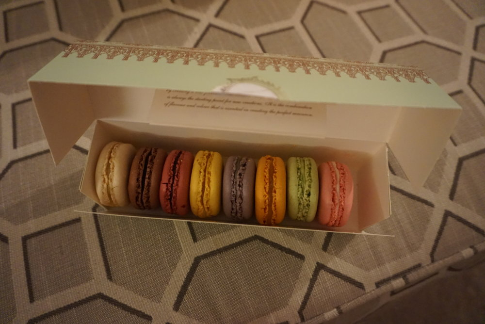 Box of macarons from Laduree (they are all gone-- insert sad face).