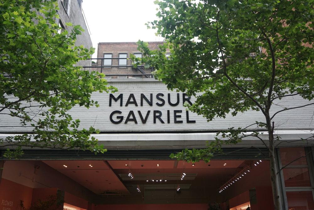 My favorite boutique... Mansur Gavriel.