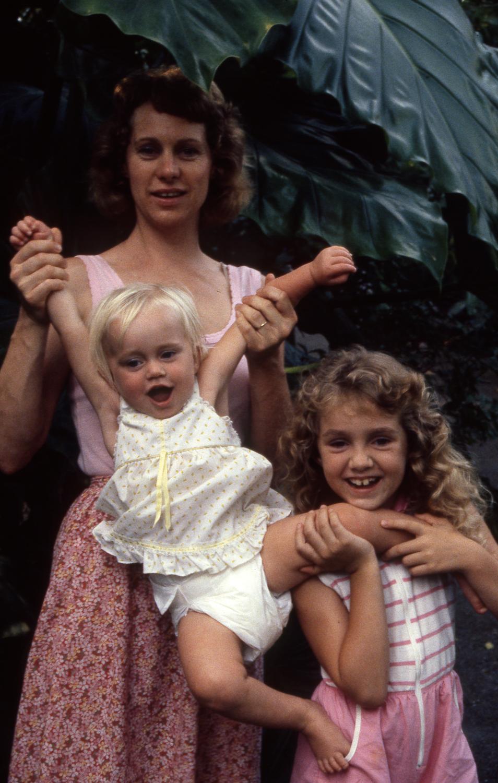 Anne, Tealia and Crystal, photo by Oscar Ellis, 1986-87